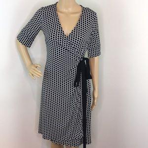 Ann Taylor Geometric Wrap Dress
